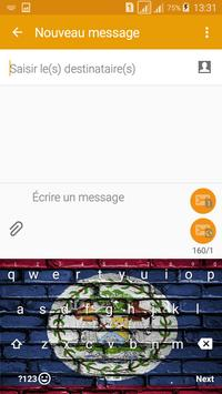 Keyboard Belize flag Theme & Emoji screenshot 2
