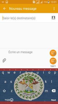 Keyboard Belize flag Theme & Emoji screenshot 4