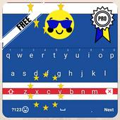 Keyboard Cape Verde flag Theme & Emoji icon