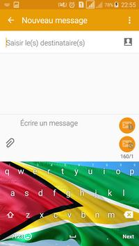 Guyana Keyboard Theme & Emoji screenshot 1
