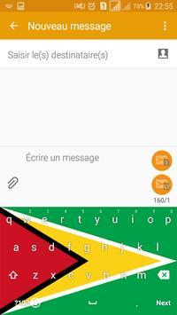 Guyana Keyboard Theme & Emoji screenshot 2