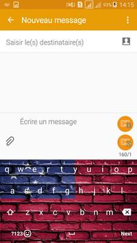 Keyboard Samoa flag Theme & Emoji poster
