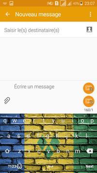 Keyboard Saint Vincent & GR flag Theme & Emoji poster