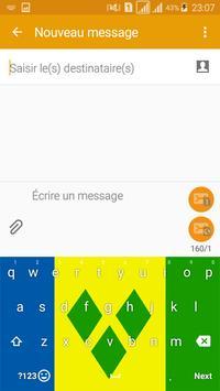 Keyboard Saint Vincent & GR flag Theme & Emoji screenshot 1