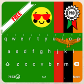 Keyboard Zambia flag Theme & Emoji icon