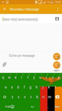 Keyboard Zambia flag Theme & Emoji screenshot 1