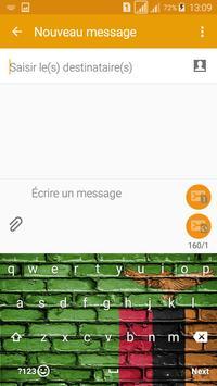Keyboard Zambia flag Theme & Emoji screenshot 2