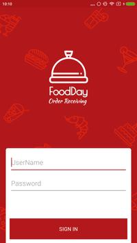 FoodDay - Order Receiving screenshot 1