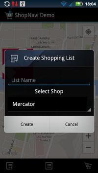 ShopNavi Maribor Demo screenshot 1