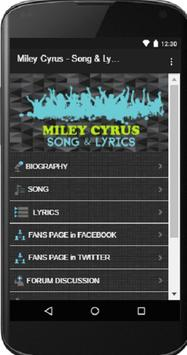 Miley Cyrus - Song and Lyrics poster