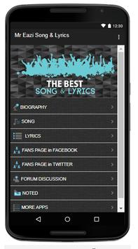 Mr. Eazi Song & Lyrics apk screenshot