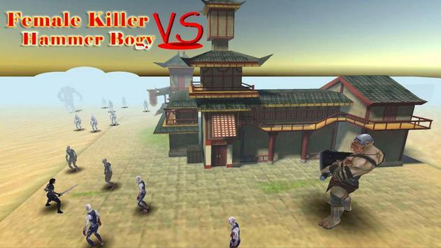 Female Killer VS Hammer Bogy poster