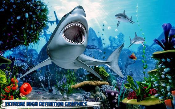 branco Tubarão com fome: baleia ataque Cartaz