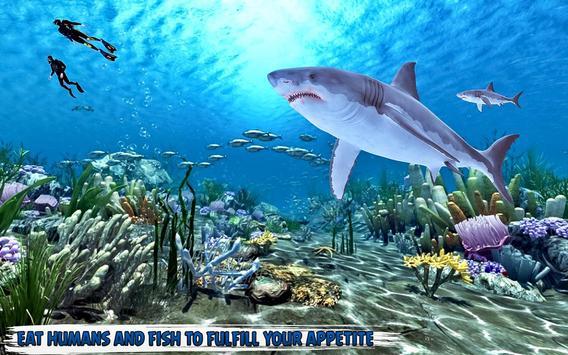 branco Tubarão com fome: baleia ataque imagem de tela 3