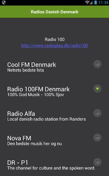 Danish Denmark radios online screenshot 1