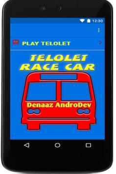 TELOLET RACE CAR poster