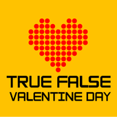 True False Valentine Day icon