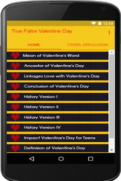 True False Valentine Day apk screenshot