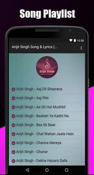 Arijit Singh Song & Lyrics ( Mp3 ) screenshot 2