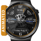 Carbon Gears HD Watch Face & Clock Widget icon
