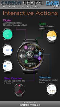 Carbon Gears HD Watch Face apk screenshot