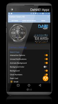 Carbon Gears HD Watch Face & Clock Widget apk screenshot