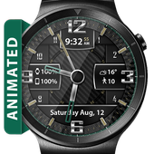 Carbon Fiber HD Watch Face & Clock Widget icon