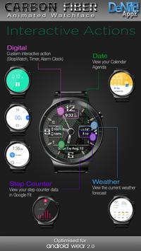 Carbon Fiber HD Watch Face & Clock Widget apk screenshot