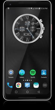 Classic Black HD WatchFace Widget & Live Wallpaper apk screenshot