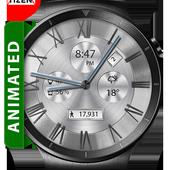 Classic White HD WatchFace Widget & Live Wallpaper icon