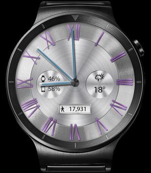 Classic White HD WatchFace Widget & Live Wallpaper apk screenshot