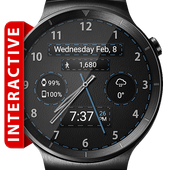 Black Leather HD Watch Face & Clock Widget icon