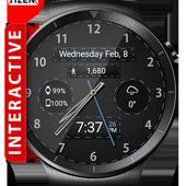 Black Leather HD WatchFace Widget & Live Wallpaper icon
