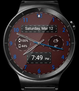 Black Leather HD WatchFace Widget & Live Wallpaper apk screenshot