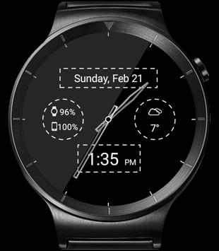 Black Leather HD Watch Face & Clock Widget apk screenshot