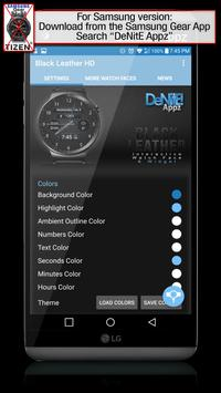 Black Leather HD Watch Face apk screenshot
