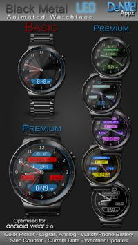 Black Metal LED HD Watch Face poster