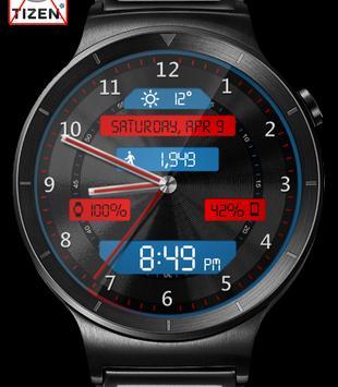 Black Metal LED HD Watch Face & Clock Widget apk screenshot