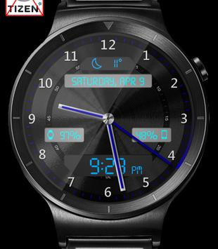 Black Metal LED HD Watch Face apk screenshot
