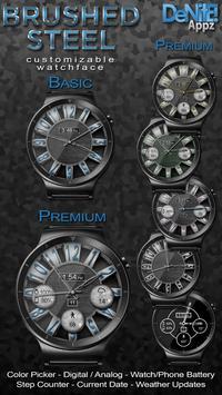 Brushed Steel HD Watch Face & Clock Widget poster