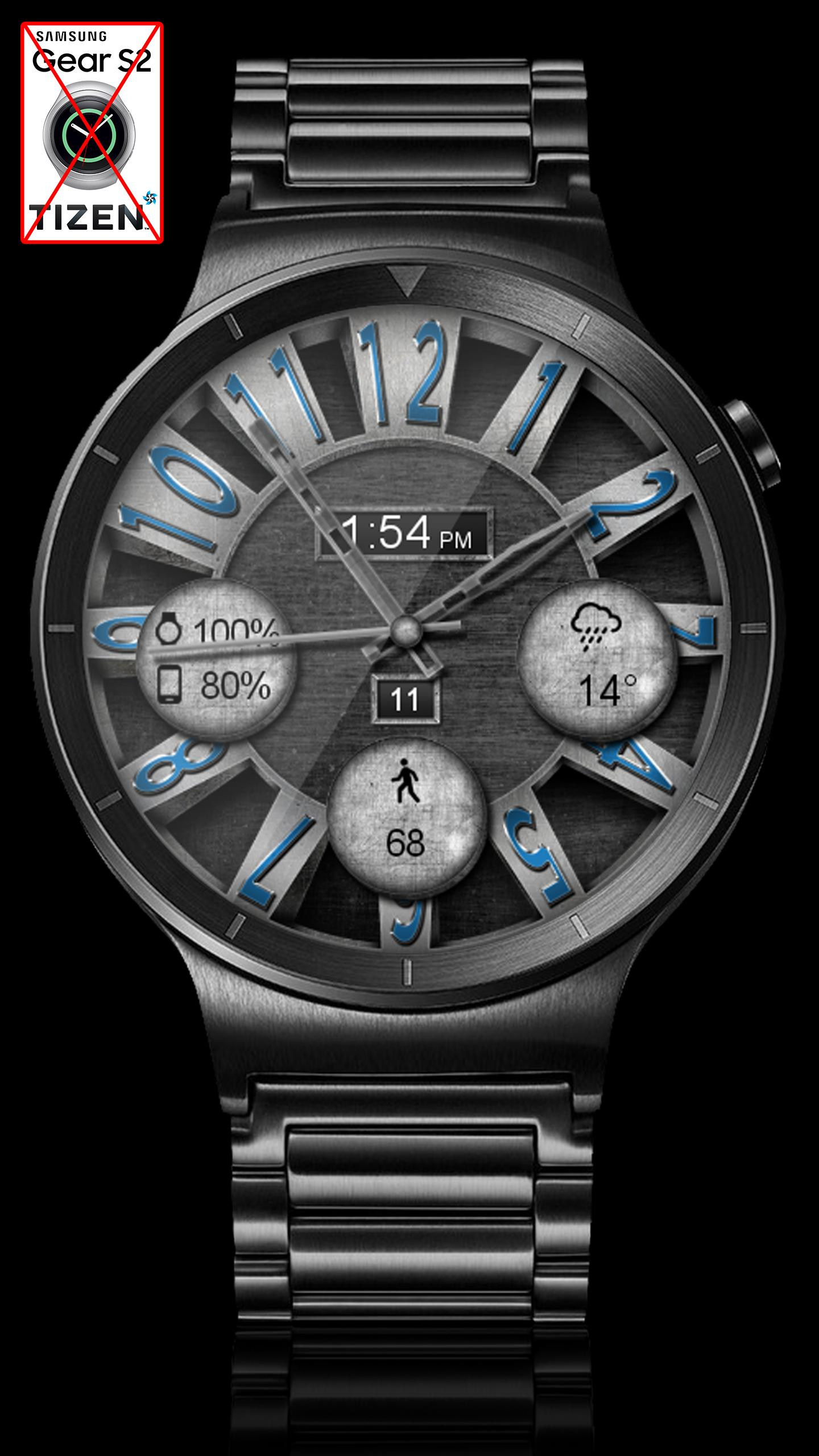 Brushed Steel HD Watch Face & Clock Widget for Android - APK