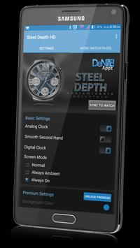 Steel Depth HD Watch Face & Clock Widget apk screenshot