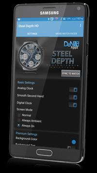 Steel Depth HD Watch Face apk screenshot