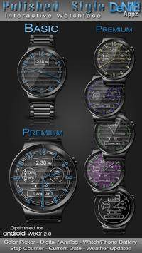 Polished Style HD Watch Face & Clock Widget poster