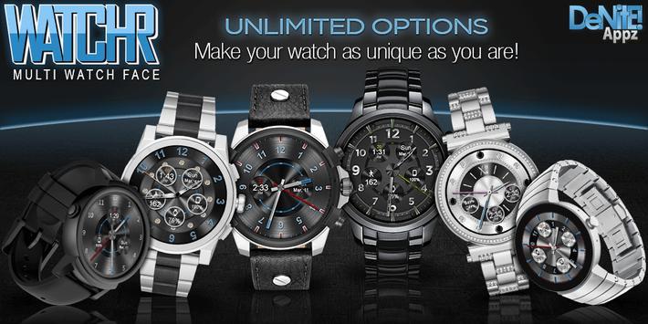 WatchR - Multi Watch Face & Clock Widget Affiche