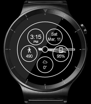 WatchR - Multi Watch Face & Clock Widget captura de pantalla 19