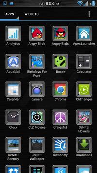 Brushed Chrome Apex/ADW/Go apk screenshot