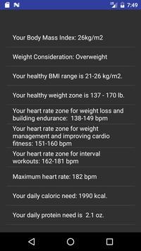 Fitness Calculator screenshot 3