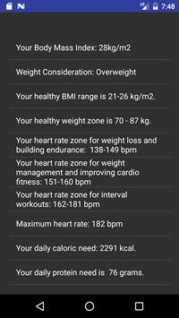 Fitness Calculator screenshot 1