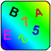 Alphabet and numbers icon